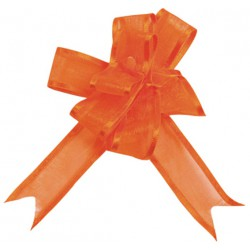Sachet 5 mini noeud organdi 1.6cm orange