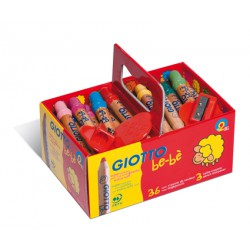 Scoolpack 36 maxi crayons Giotto Be-bé