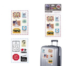 Set de 15 stickers de valise