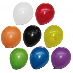 24 ballons latex couleur uni